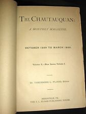 Vintage October,1889-March,1890,The Chautauquan, Bound Volume, 6 Issues, Rare
