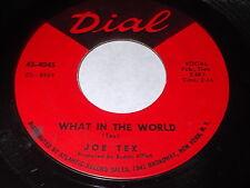 Joe Tex: What In The World / I've Got To Do A Little Bit Better 45 - Soul