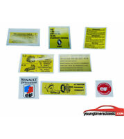 RENAULT SUPER 5 GT TURBO kit 8 stickers Moteur autocollants