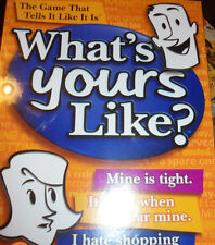 NEW SEALED GAME Waht's Yours life? ages 10- adult 4 or more players fun party