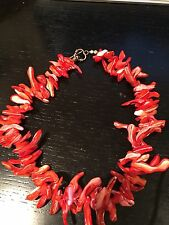 Dyed Shell Necklace  Faux Coral