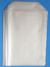 200 Pack CPP Generic CD/DVD Clear Plastic Sleeve with Flap, Fits14mmDVD Artwork