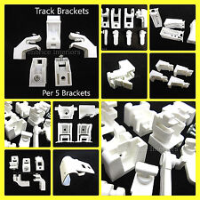 Curtain Track Brackets - SOLD PER 5 - Rail Support Fixing Fittings - All Types