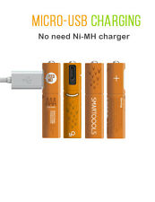 Smartoools 4-piece AAA rechargeable Battery NiMH Pre-charged Micro USB batteries