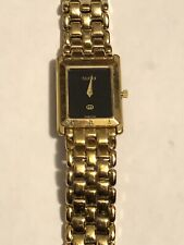 "Vintage 90's Gucci 4200M 18k Gold Plated Watch Runs Perfect (fits 7.25"" wrist)!!"