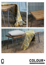 Rustic Vintage Industrial Loft Wooden Bench Metal Hairpin Legs