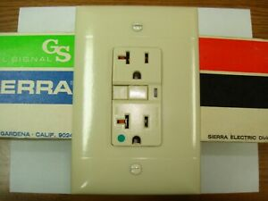 Vintage Oversize Ivory Smooth Decora GFCI Switch Outlet Wall Cover Plate Sierra