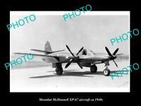 OLD 8x6 HISTORIC AVIATION PHOTO MOONBAT McDONNELL XP-67 AIRCRAFT USAAF c1940