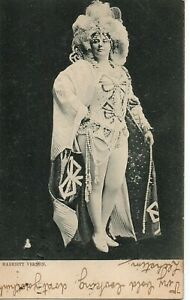 70700 Orig 1902 Litho Postcard British Actress Harriett Vernon outrageous outfit