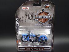1948 Harley Davidson FL Panhead  H-D CUSTOM Maisto 1:24 DIECAST MOTORCYCLE MODEL
