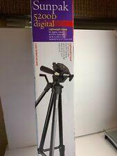 Sunpak 5200D Digital Camera Camcorder Tripod Stand Mount Portable Tri pod