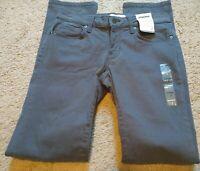Sonoma Women's Dark Gray 021 Heavy Lead Slim Straight Pants SIZE 2 28x30 - NWT