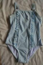 New listing M&S girls swimming costume, swimsuit, swimwear Age 4-5 years blue stripe BNWT