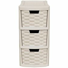 Keter Rattan Style 3 Drawer Cart.Plastic Home Storage Units For Sale Ebay