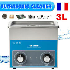 3L Nettoyeur à Ultrason NETTOYAGE ULTRASON Chauffage Transducteur 40KHz BAC INOX