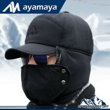 Men Winter Aviator Bomber Hat Trapper Trooper Ear Flap Snow Ski  Mask Cap Hood