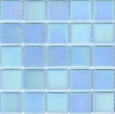 25pcs Bisazza Gloss Pearl GL 07 Light Blue Glass Mosaic Tiles 20mm x 20mm x 4mm