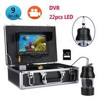 "9"" Underwater Fishing Video Camera Fish Finder Rotating Camera DVR Recorder 8G"