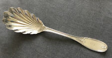 W Kendrick Louisville Coin Silver 1850 Shell Serving Spoon