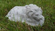 Beton Skulptur LÖWE (liegend) Wetterfeste Steinguss Figur 2,8 kg auktion q3