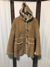 Jones Of New York Faux Fur & Suede Lining light beige coat L
