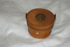 ANTIQUEc1900~~FIGURAL,MAUCHLINE~ MILK PAIL & COVER ~ 3 THREAD HOLDER & FEEDER