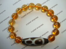 FENG SHUI - GOD OF WEALTH DZI WITH 10MM CITRINE