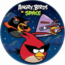 ANGRY BIRDS SPACE PARTY SUPPLIES DINNER PLATES - PACK OF 8
