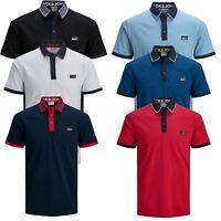 Jack & Jones Authentic Polo T-shirt For Mens Short Sleeve Cotton Tee 7174
