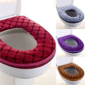 Bathroom Toilet Seat Closestool Washable Soft Warmer Cover Pad Cushion Mat
