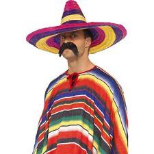 Para Hombre Multi Color Sombrero Grande Vestido Elegante Sombrero Mexicano  Bandido Stag amigo do f733b363648
