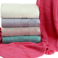100%  Bamboo Fiber Rayon Ultra Soft Absorbent Thick Big Long Bath Towel Heavy