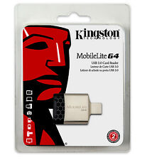 Kingston USB 3.0 SD micro SDHC SDXC Multi Dual Memory Card Reader MobileLite G4