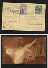 Austria  postal  card with  label  1908      MS0514