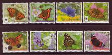 [D *] Isola di Man 2011 Farfalle Set di 8 unmounted Nuovo di zecca, Gomma integra, non linguellato
