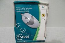 Logitech USB Optical Mouse 2-Buttons w/Scroll-Wheel 931144-0403 PC/Mac OEM NEW