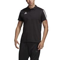 adidas Three Stripe Black / White Polo Shirt Men's Medium