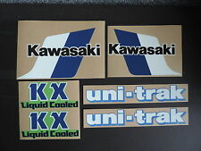 1983 KAWASAKI KX 125 GAS TANK, SWINGARM & SIDE PANEL DECAL KIT VINTAGE MOTOCROSS