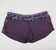 Smartwool Shorts Womens XL Merino Wool Blend Purple Lined Running Athletic Yoga
