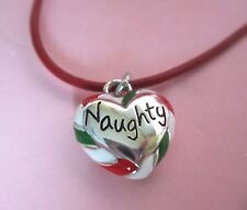 Brighton Naughty or Nice Holiday Christmas Candy Heart Pendant Necklace NWT