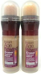 (2) Maybelline Instant Age Rewind Eraser Treatment Makeup 300 - Medium Beige
