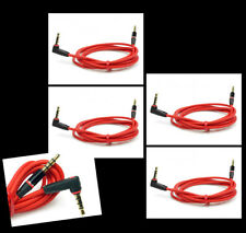 4X 3FT 3.5MM JACK AUX RIGHT ANGLE STEREO CABLE RED IPHONE 5 4S IPOD CLASSIC NANO