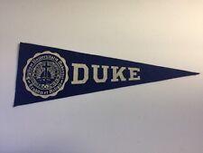 "Vintage 1950s Duke University College Hormel Pennant Blue Devil 3.5"" x 9.5"""
