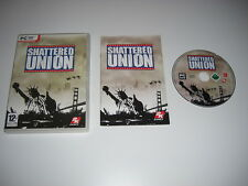 SHATTERED UNION Pc DVD Rom Original Version With Manual RTS Fast 1st Class POST