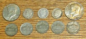 US Silver Coin Lot $1.55 Face