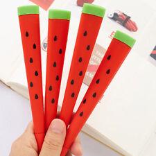 2PCS Cute Watermelon Gel Pen Ballpoint 0.5mm Black Ink Student School Stationery