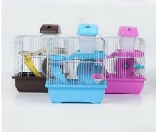 Brand New Luxury Hamster Cage Hamster home House 2 Floors Castle With Slide Disk