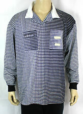 ADIDAS BLACK/WHITE LONG SLEEVE REFEREE VINTAGE T-SHIRT TEE RARE SIZE (XL) ST01