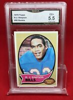 1970 Topps OJ Simpson rookie card Graded 5.5 Excellent. Super clean