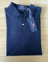 Vineyard Vines Short Sleeve Navy Blue Polo Shirt Cotton Solid Mens Size S EUC